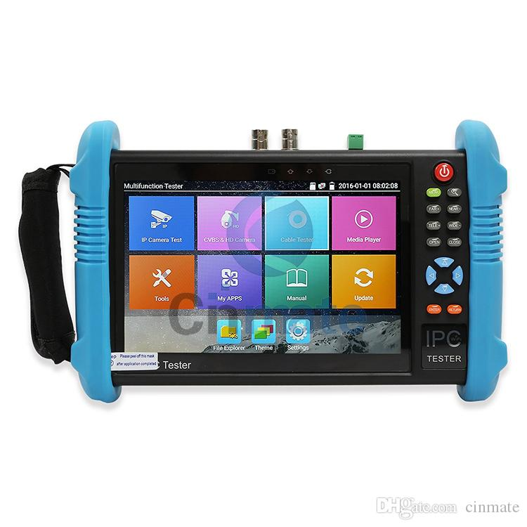 7 Inch IPS Touch Screen IP Camera Tester CCTV Tester CVBS Analog Tester with POE/WIFI/RJ45 TDR/Dual Window Test/Firmware Update 9800 Plus