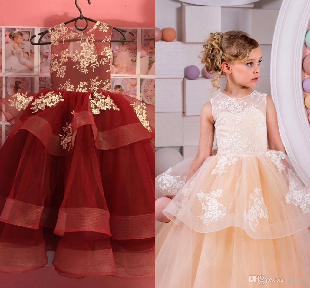 Real Images Flower Girls Dresses 2017 New Arrival With ... - photo#22