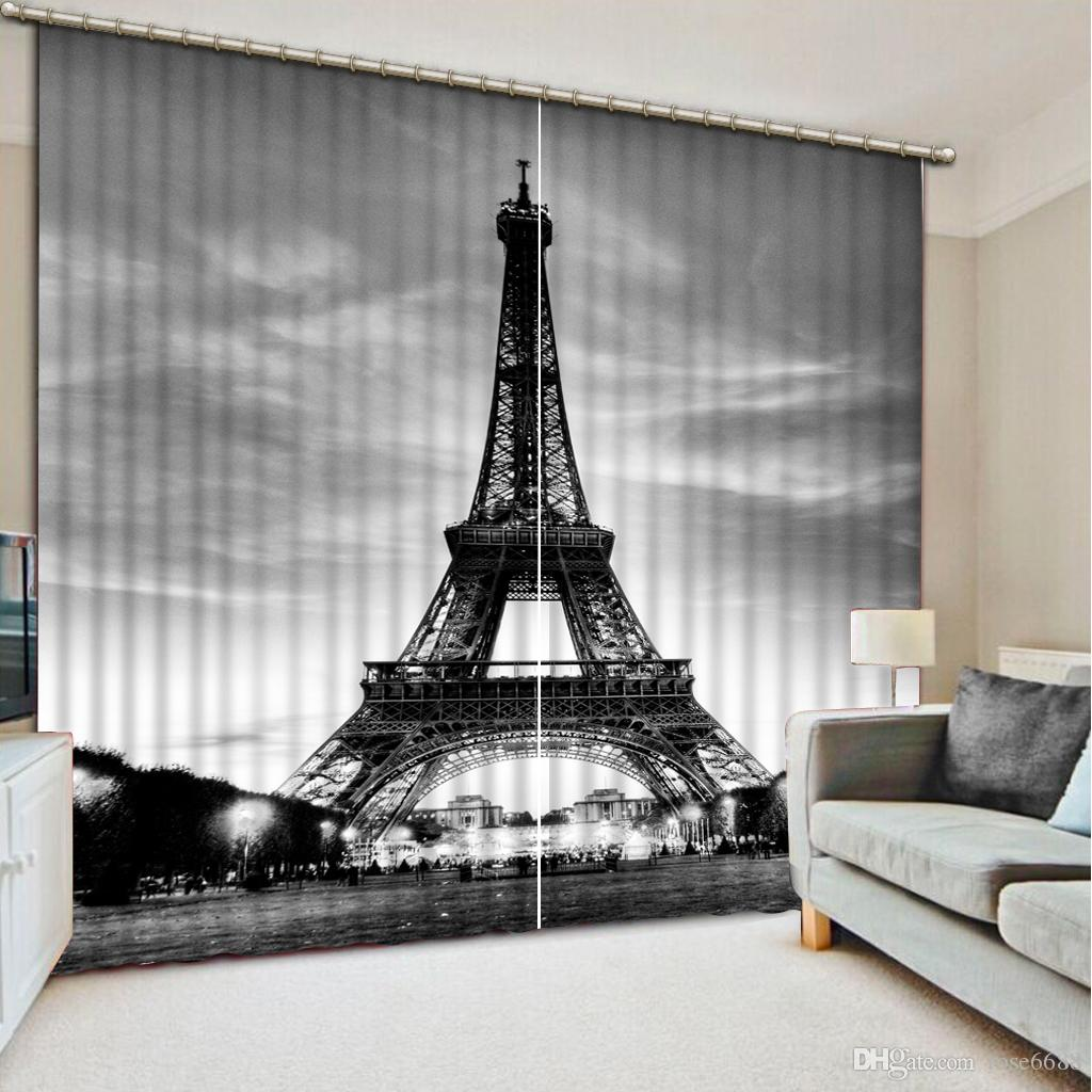 Black and white window curtain - Home Decor Modern Black And White 3d Curtain Fashion Decor Home Decoration For Bedroom Window Curtain
