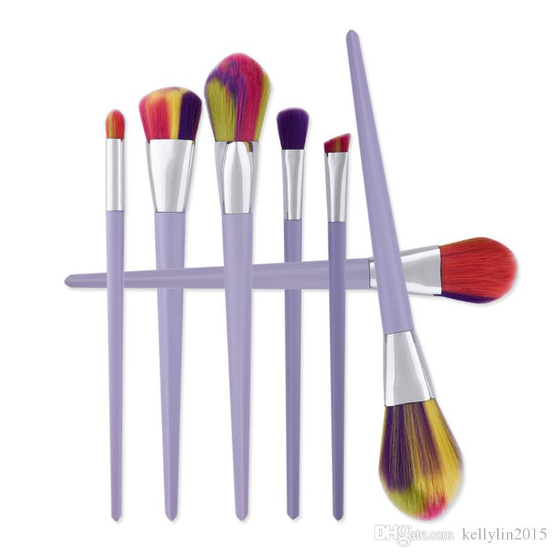 Diamond Makeup Brushes Sets Eyeshadow Foundation Face Powder Mermaid Brush Cosmetics Beauty Tools Rainbow Make up Brushes Kits