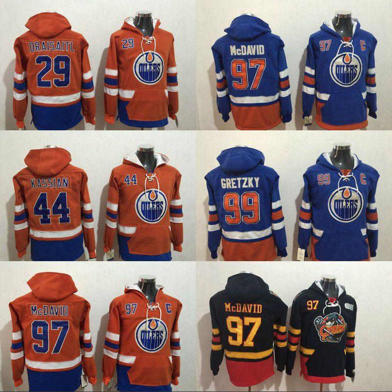 cda2ebddd21 2019 Edmonton Oilers Hoodies Jersey 97 Connor McDavid 99 Wayne Gretzky 44  Zack Kassian 29 Leon Draisaitl Sweatshirts Hockey Jerseys From  Projerseysword