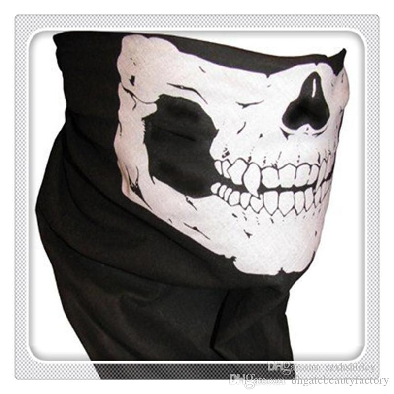 Fashion Cycling Skull Face TubeMasks Magic Scarf Multi Function Headwear Skull Bandana Motorcycle Helmet Neck Half Face Masks Free DHL
