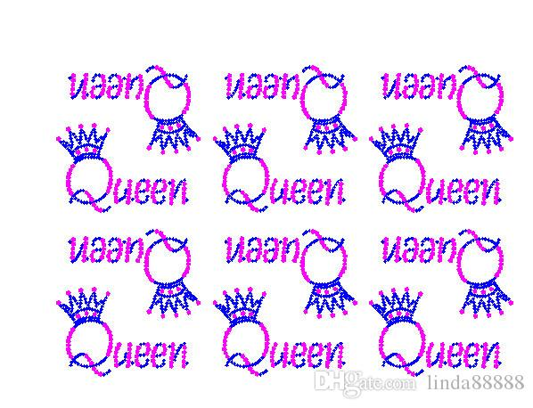 Hotfix Rhinestone Transfers Iron On Motif Queen Crown Letters Wholesale