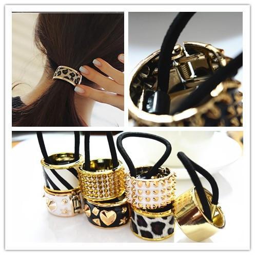 b01403465ef4a Acquista Plastic Acrylic Celeb Fashion Chic Style Round Hoop Cuff Wrap  Girls  ponytail Holder Anello Fasce Capelli Donne Cravatte Capelli A  5.78  Dal ...