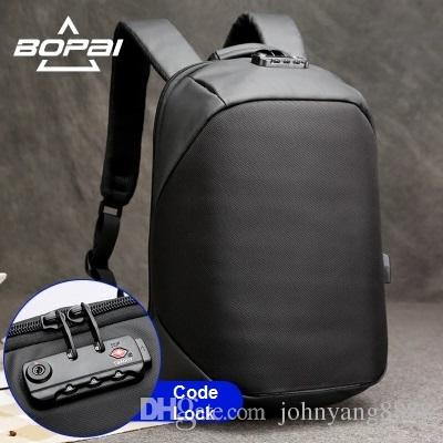 ac318c62c6c BOPAI Luxury Coded Lock Backpack For Travelling Business Men'S USB Charge  Port Backpack Anti Theft Women Backpack Waterproof Gym Bags Bags Online  From ...