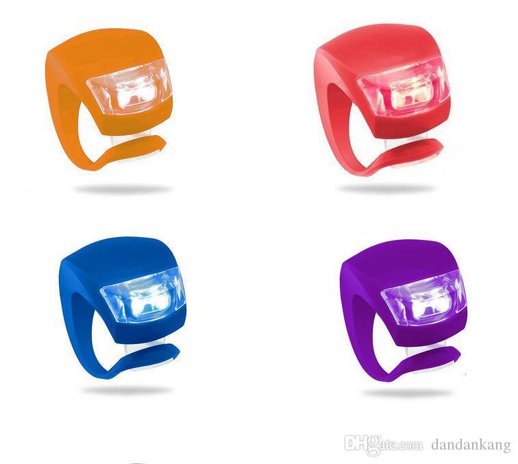 LED Fahrrad Frontscheinwerfer Silikon-Fahrrad-Kopf Vorne Hinten Rad-LED-Blitzlicht-Lampe Nacht Fahrrad Sicherheit Warnning Lichter