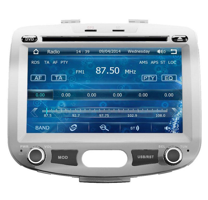 In Dash Auto DVD Player GPS Navigation für Hyundai / Inokom i10 2007-2012 mit Radio Bluetooth USB SD MP3 AUX Audio Video Stereo