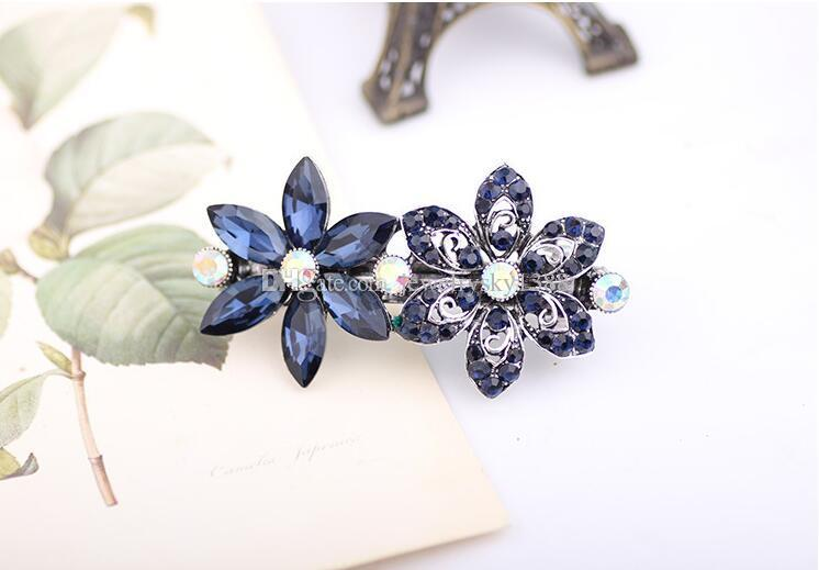 Girls Beautiful Hair clips Barrettes with strong clasp Crystal Rhinestones Bows Hairpin Flower Hair Jewelry Wholesale