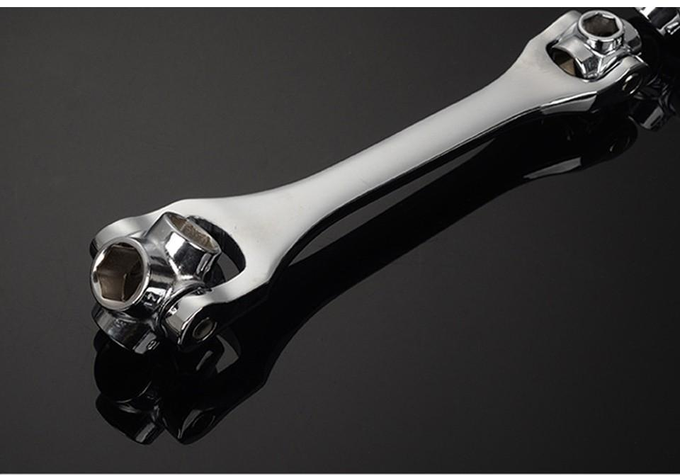 Household Wrench 12-19/8-21/10-22mm 8 IN 1 Socket Wrench Spanner Key Multi Tool Hand Tools Herramientas Ferramentas