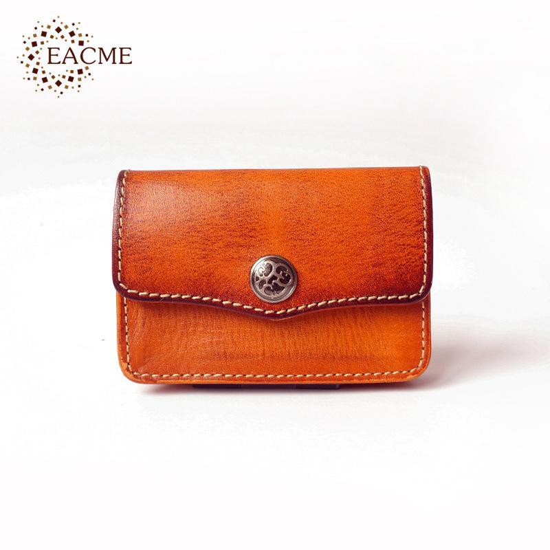 Retro Handmade Leather Business Card Holder Men Credit Cards Bag ...