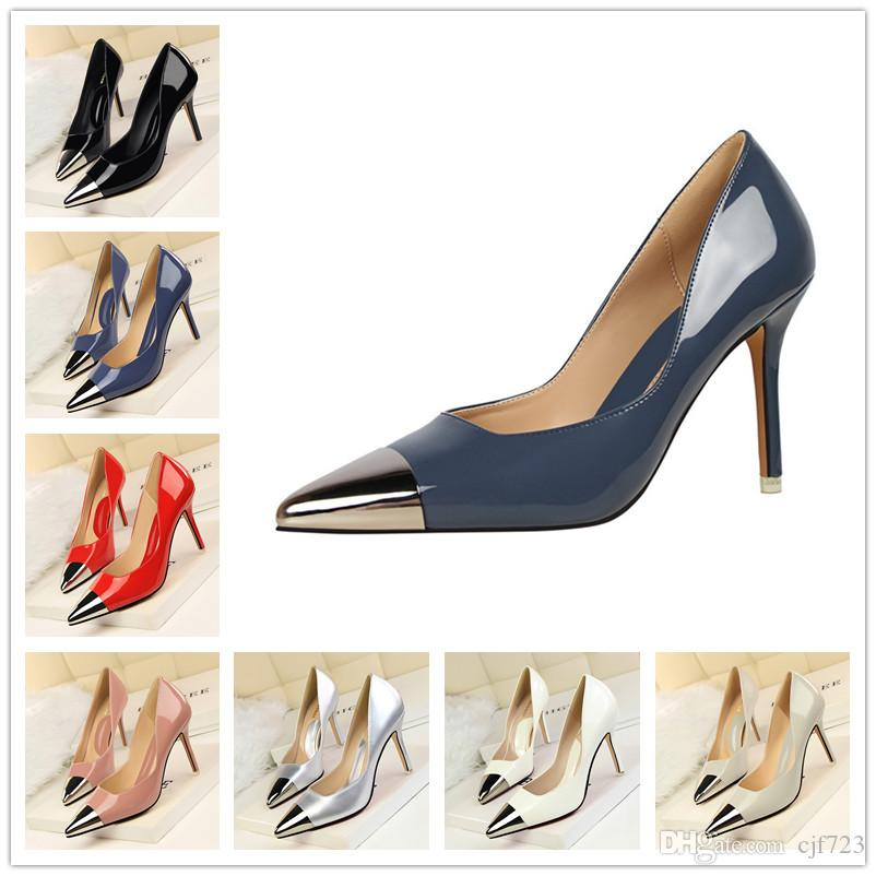 Sexy Hight Heels 2017 Ladies New Summer Women Pumps Bowknot High-heeled  Thin High Shoes Hollow Pointed Stiletto Elegant Ladies Shoes Wedding Shoes  for Women ... e11b542566c0