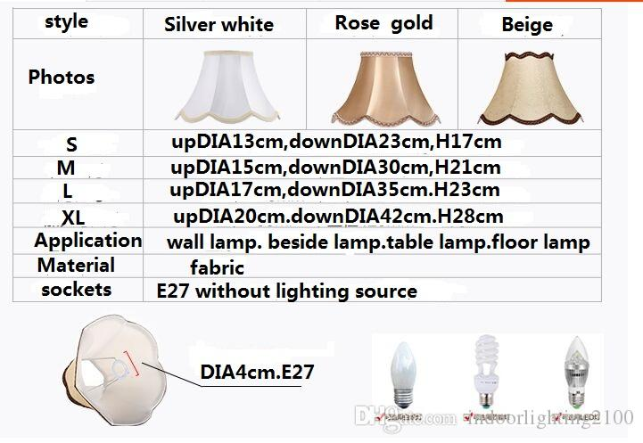Promotion Europe Style Luxury Fabric E27 Lamp Covers&Shades Used for Small Table Lamps Wall Lights Floor Lamp Beside Lighting Accessories