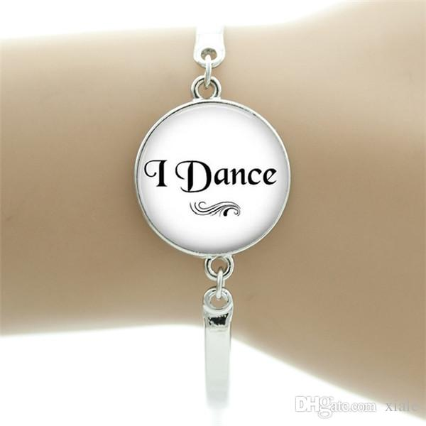 vintage Ballerina bracelet women elegant ballet dance dancing glass art bracelets fashion dancer jewelry gifts NS131