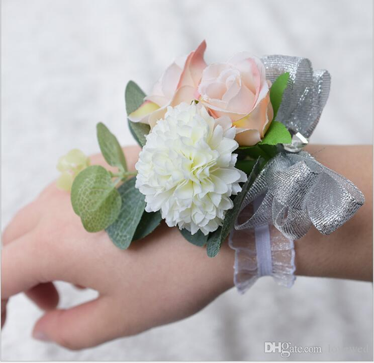 Wedding Flowers Corsage Ideas: Romantic Bridal Wrist Corsage Wedding Flower Add