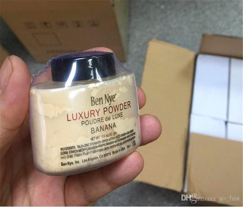 In Store Fast ship!! HOT Ben Nye LUXURY POWDER POUDER de LUXE Banana Loose powder 42g/1.5oz with series code DHL