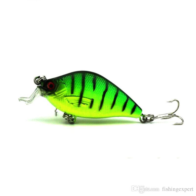 6.5cm 8.4g Artificial Bass Fishing Lures 3D Fish Eye Hard Plastic Laser CrankBait and Reflective Fake Fishing Tackle Baits