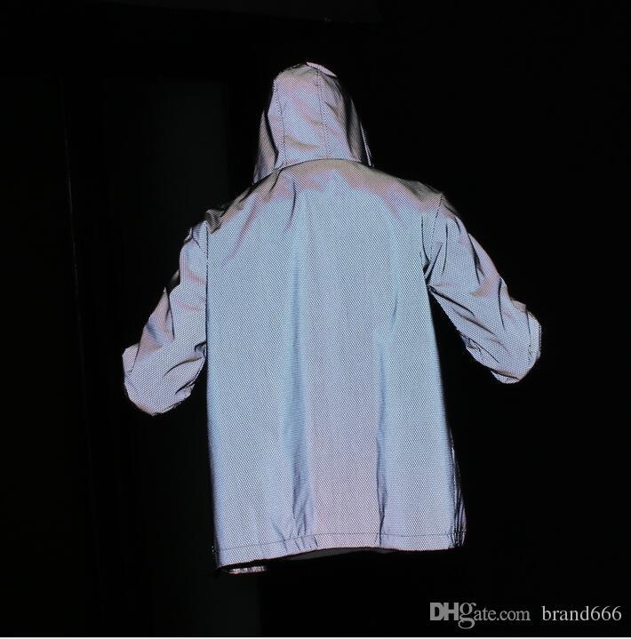 c7ed551d4 Men Jacket Autumn Patchwork Reflective 3m Jacket Sport Hip Hop Outdoor Waterproof  Windbreaker Men Coat Trend Brand Warm Jackets Long Jackets From Brand666,  ...