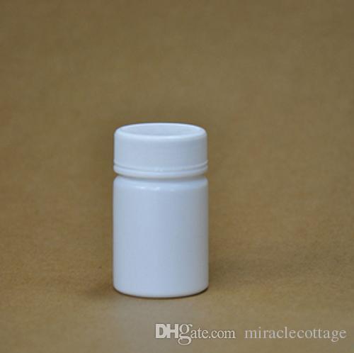 / الكثير 40ml / 40g جولة اللون الأبيض زجاجة HDPE ، زجاجة فارغة ، زجاجة حبوب منع الحمل ، زجاجة مسحوق ، زجاجة بلاستيكية