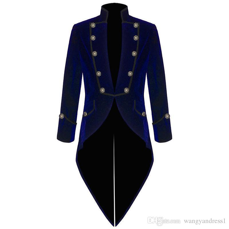 New style Custom made Handsome Velvet Bule Tailcoat Formal Suits Fashion Prom Wears Groomsman suits Jacket+Pants