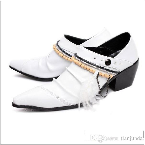 Zapatos Hombre Nero / Bianco scarpe casual uomo low-top a punta, scarpe da uomo in pelle da uomo scarpe da lavoro uomo, misura grande US12, EU46