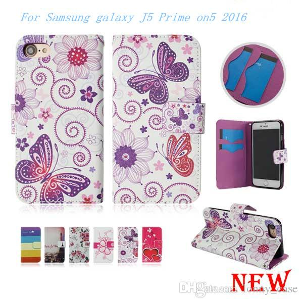 Wallet Case For Samsung galaxy J5 Prime on5 2016 J7 Prime on7 2016 Leather Case Cover Card Slot Opp Packaging