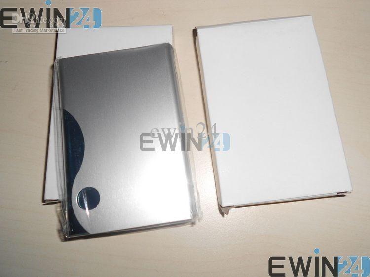 Titular de la caja de la tarjeta de identificación de crédito de nombre comercial de aluminio para viajes regalos al aire libre fácil de llevar al por mayor envío gratuito