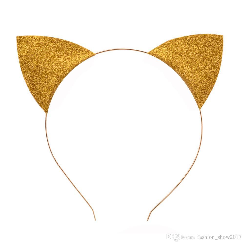 새로운 패션 소녀 아기 고양이 귀 머리띠 아기 아이 고양이 헤어 밴드 모자를 쓰고 있죠 헤어 액세서리