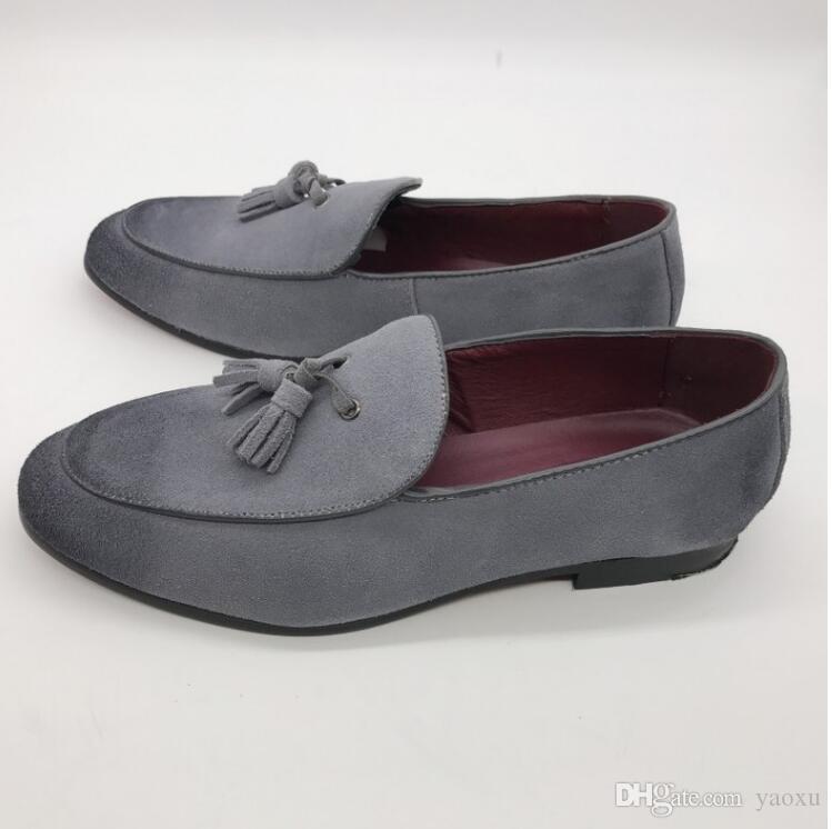 Uomo Oxfords in pelle scarpe a punta Oxfords Business Dress Formal Oxford Scarpe uomo Flats Scarpe da sposa DHA17