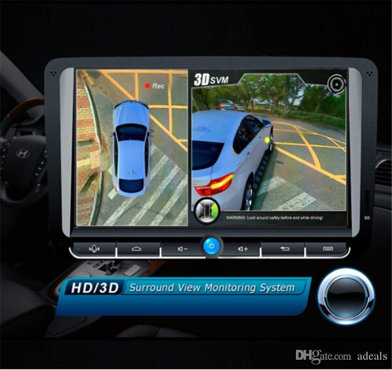 100% Quality Bird View Panoramic System Car Video 4 Cam Car Dvr Recording Parking Rear View Camera Interior
