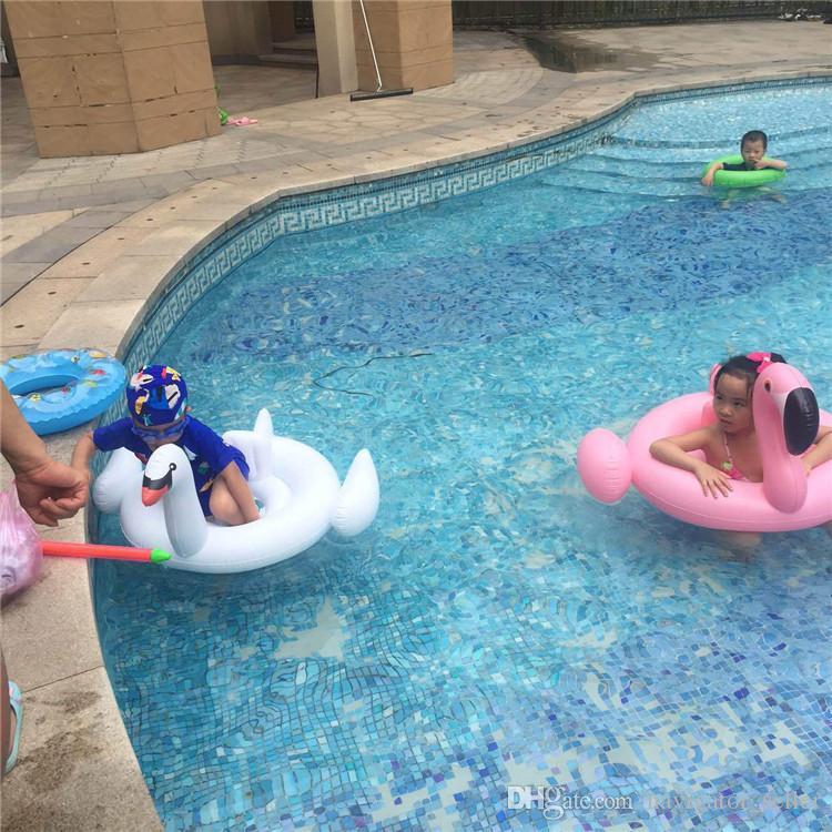 Летний детский надувной плавательный бассейн Пляжные игрушки Детский спасательный круг Водные виды спорта Детские плавательные круги Круглые надувные поплавки Фламинго Лебедь