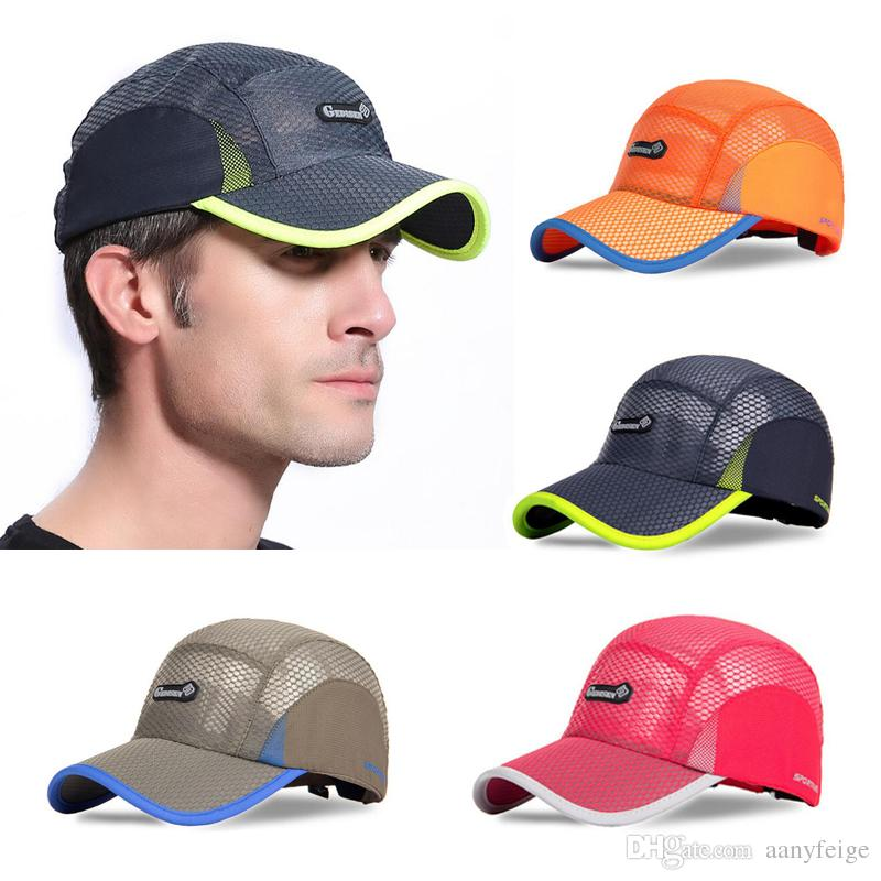 d51bacb8 2019 Sports Mesh Baseball Cap Summer Cool Breathable Lightweight Hat  Adjustable Snapback Tennis Golf Fishing Running Cycling Sun Hat Cap From  Aanyfeige, ...