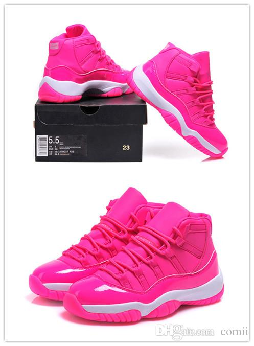 fe571cef8e05 Wholesale 11 Pink High Cut Womens Basketball Shoes High Quality Womens  Sports Shoes Cheap Eur Size 36 40 Athletic Shoes Shoes Online From Comii