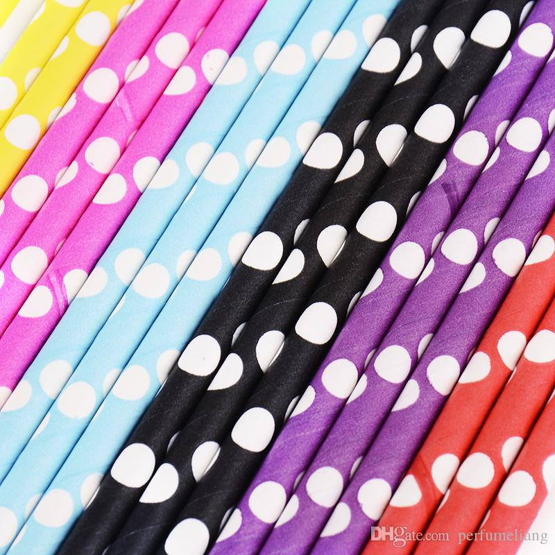 color send at randomly mixed Chevron patterns Striped & Polka Dot Drinking Paper Straws for party favor JF040