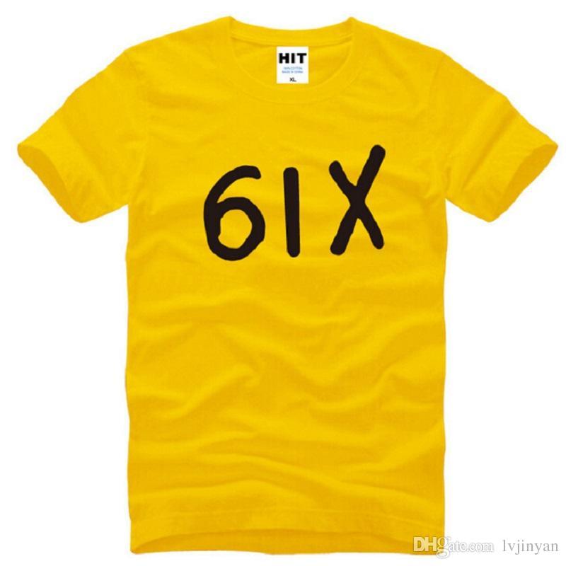Yeni Tasarımcı Altı Drake T Shirt Erkekler Pamuk Kısa Kollu Drake Hiphop 6IX erkek T Shirt Moda Rap Hip Hop Erkek Tee Gömlek Swag