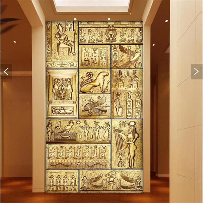 Wholesale wall paper 3d art mural hd beauty of ancient for Egyptian wallpaper mural