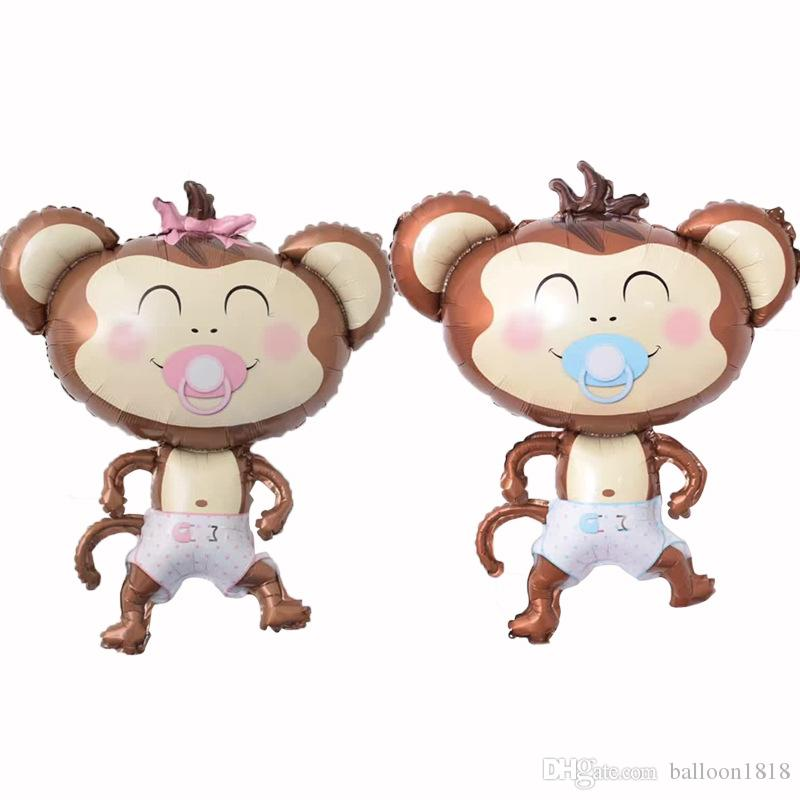 Nipple Monkey Foil Balloons Inflatable Toys Globos Birthday Party Decorations Kids Helium Balloon Baby Shower Party Supplies