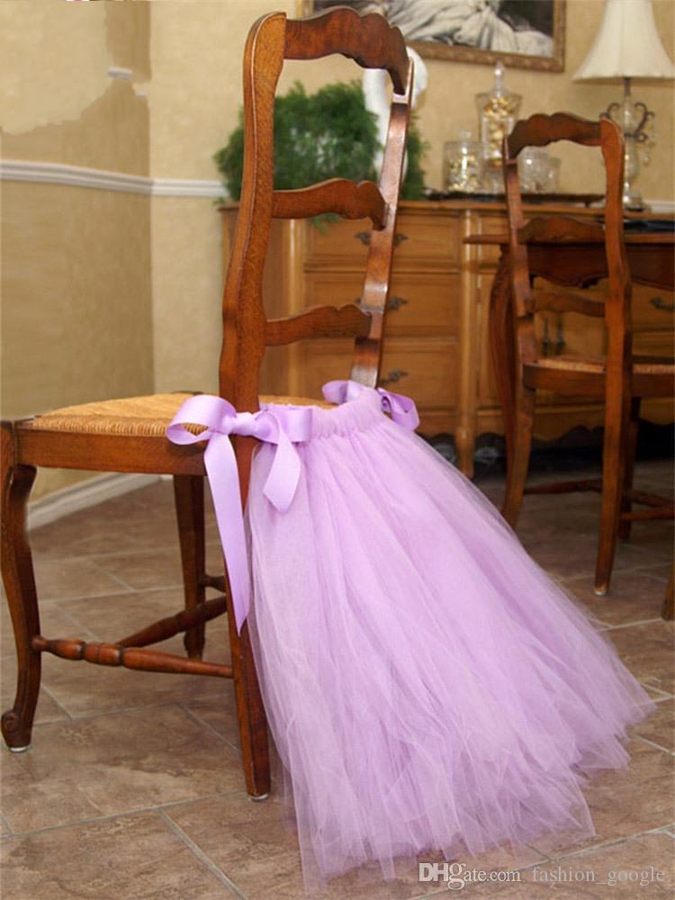 1 Pièce Mariage Chaise Housse Tulle Tutu Chaise Jupe Fête D/'Anniversaire Baby Shower