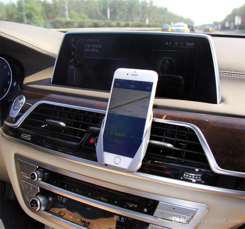 Evrensel M Şekli tasarım Hava Firar Araba Dağı Cep telefonu Tutucu Telefon Standı iphone 7 6 s 8 artı Samsung s8 not 8 için Sony HTC not8 satış