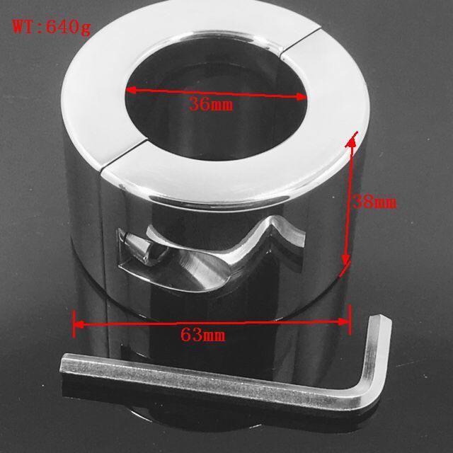 Нержавеющая сталь Масса шарика Пенис-член testis Удерживающее устройство Взрослые секс-товары Ball Stretcher BONDAGE CBT FETISH MKR902
