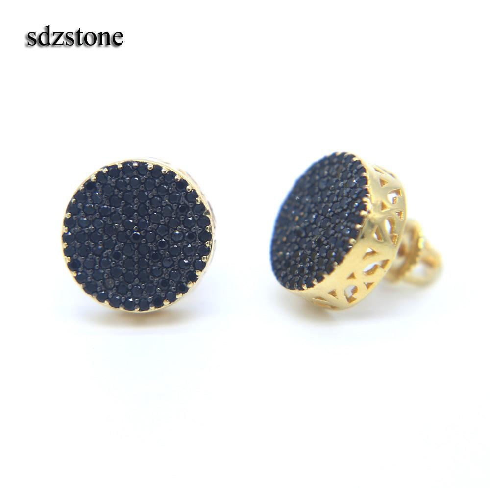 product for stone buy black earrings shine women is green