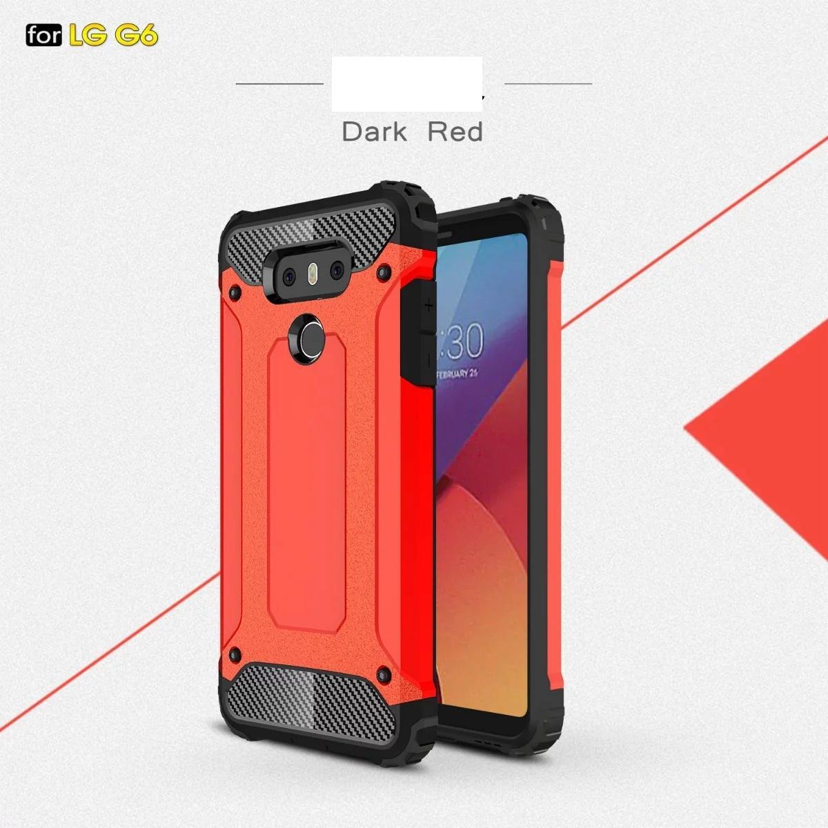 Armure Hybrid Defender Case TPU + PC Housse de protection antichoc POUR LG G6 G5 Q6 Galaxy S7 EDGE S7 PLUS S6 EDGE PLUS