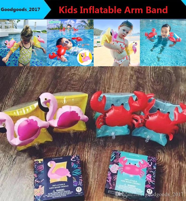 2019 Kids Inflatable Arm Band Cartoon Swimming Armlet