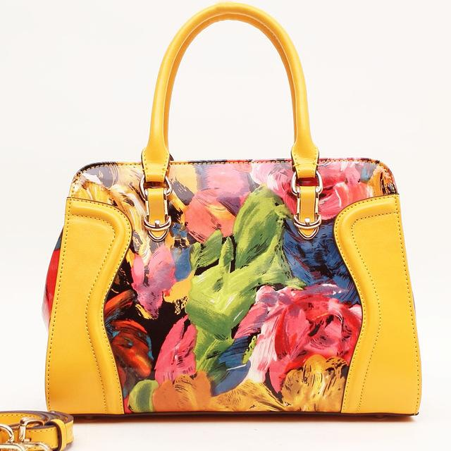 8e5eca347131 Wholesale Luxury Shiny Top Quality Leopard Pattern And Sunflower Oil  Painting Women GENUINE LEATHER Tote Bags High Quality Shoulder Bags  Wholesale Bags ...