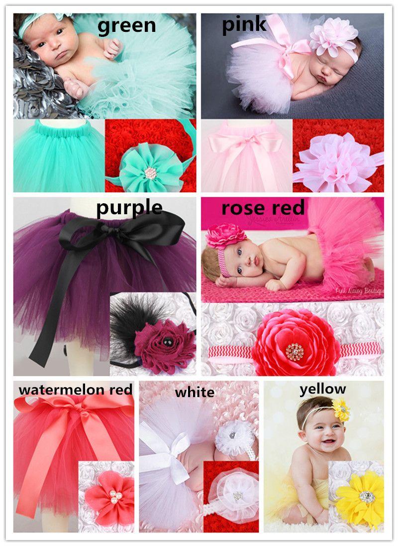 Newborns Baby bowknot lace tutu dress set flower headband+tutu skirt infants photo photography props costumes suits for 0-3T