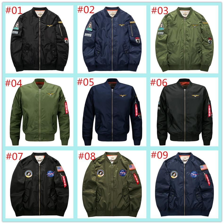 2017 New Men S 5XL Coat Jacket Ma 1 Air Force One Flight Jacket Men NASA  Thickening Fertilizer Foreign Trade King Lala Ikai Jackets Mens Fall Jackets  Army ... b573fed0ab3