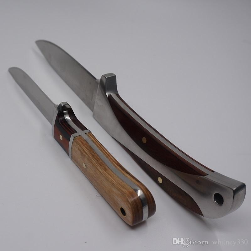 Fixed Blade Охотничий Нож Прямой Тактический Боевой Нож 440 Лезвия Деревянная Ручка Ножи Выживания 57HRC Sharp Открытый Отдых EDC Инструмент