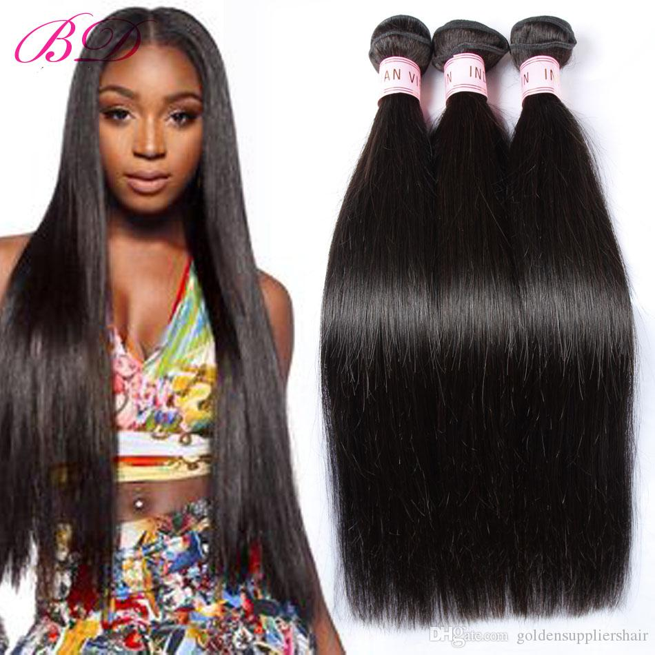 BD Silky Straight Human Hair Extensions Black Human Hair Weave Indian Human Hair Weft 300/400g One Set