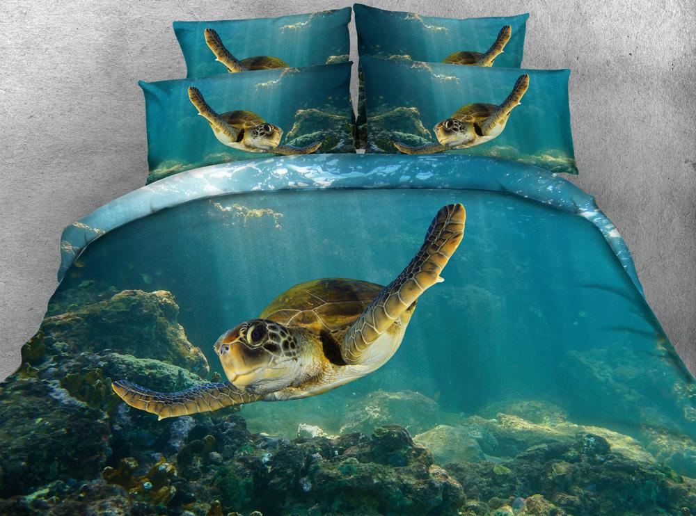 Wholesale Jf 079 Silky Touch Tencel Fabric Green Sea Turtle 3d