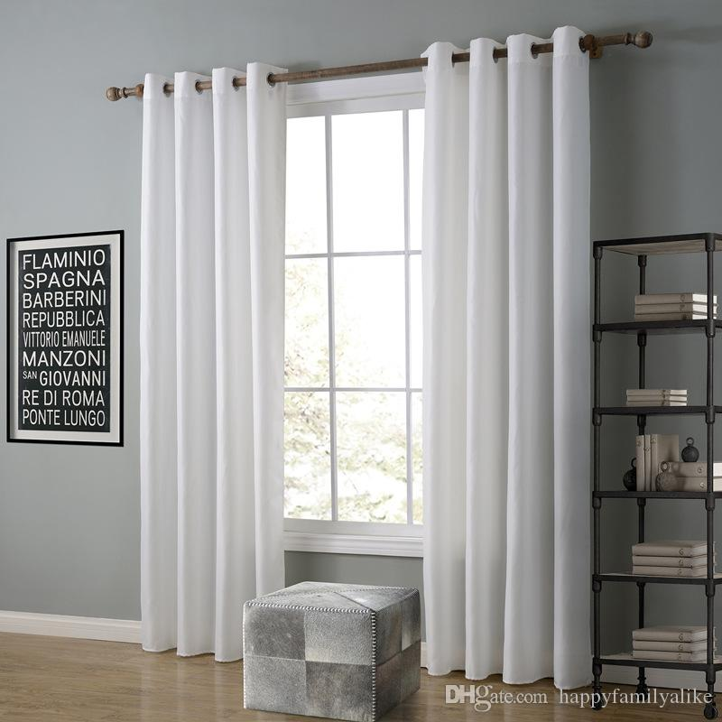 2018 52*63inch Sheer Curtains Living Room Bedroom Curtains Simplicity  Vertical Hanging Blackout Window Curtain Eight Colors To Choose Wholesale  From ...
