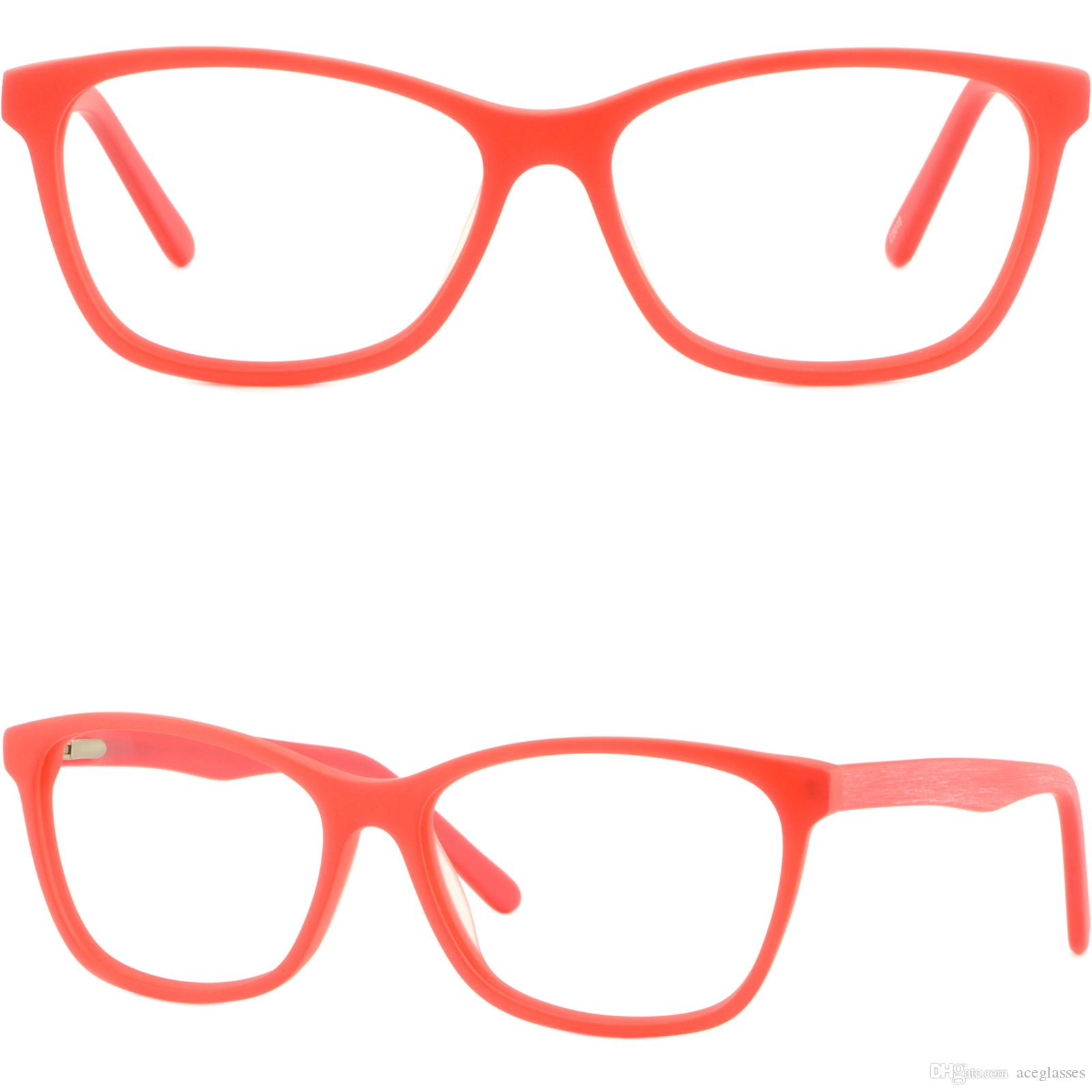 78e4b8da3a Red Women S Acetate Frames Spring Hinges Light Prescription Glasses Plastic  Red Eyeglass Frames Cool Glasses Frames From Aceglasses